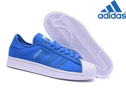 adidas superstar toile bleu